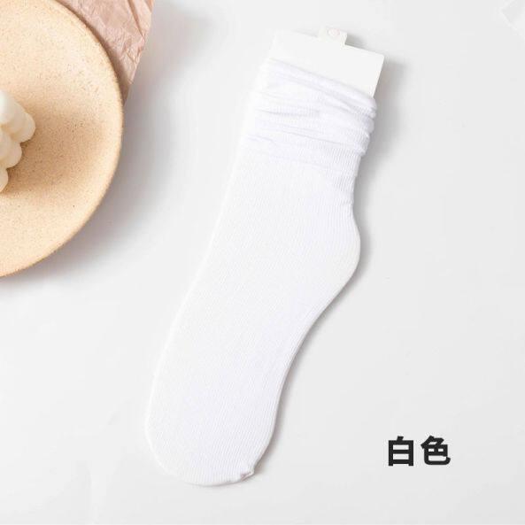 GJY834 Vớ Bó, Vớ Băng Hàn Quốc Mỏng Màu Trắng Mùa Hè Cho Nữ, Tất Jk Nhật Bản Dễ Thương Tất Ống Lửng Nữ Mùa Hè Ins giá rẻ