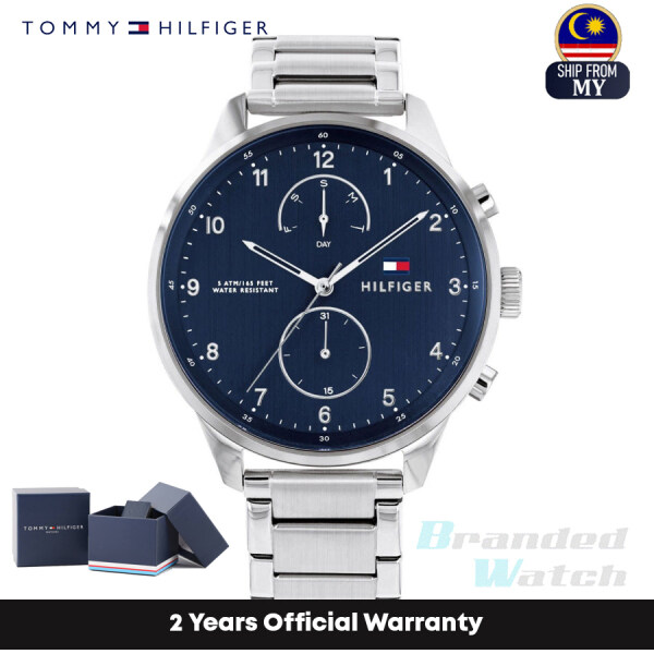 [Official Warranty] Tommy Hilfiger 1791575 Mens Multifunction Quartz Chase Silver Stainless Strap Watch (watch for men / jam tangan lelaki /tommy hilfiger watch for men / men watch) Malaysia