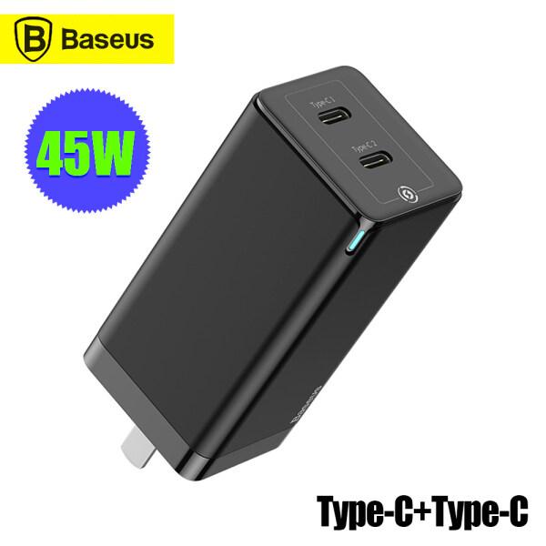 Bộ Sạc Nhanh Baseus GaN 45W PD3.0 QC3.0 SCP Bộ Chuyển Đổi Nguồn AFC Sạc Nhanh Cho Máy Tính Xách Tay Máy Tính Xách Tay Tương Thích Với iPhone 12 Pro MacBook Phích Cắm Gập Nhiều Bảo Vệ Type-C + USB