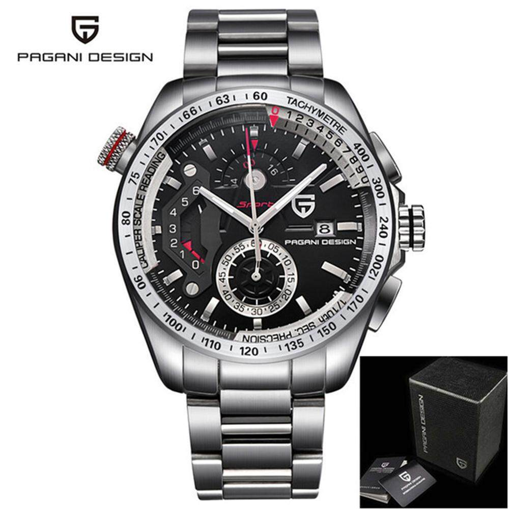 PAGANI DESIGN Fashion Casual Business Waterproof Outdoor Watch For Calendar Chronograph Sports Stainless Steel Japan Quartz Movement Auto Date Stop Watch Male Wristwatch Gift Box CX-2492C Malaysia