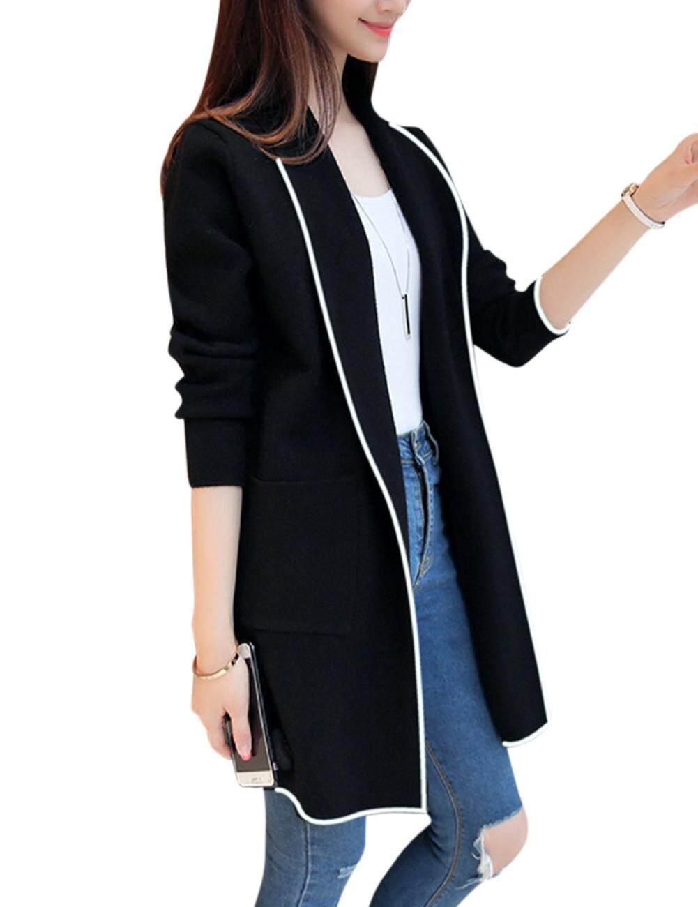 82bdf96a9 Women Fashion Loose Cardigan Classic Elegant All-match Tops Coat
