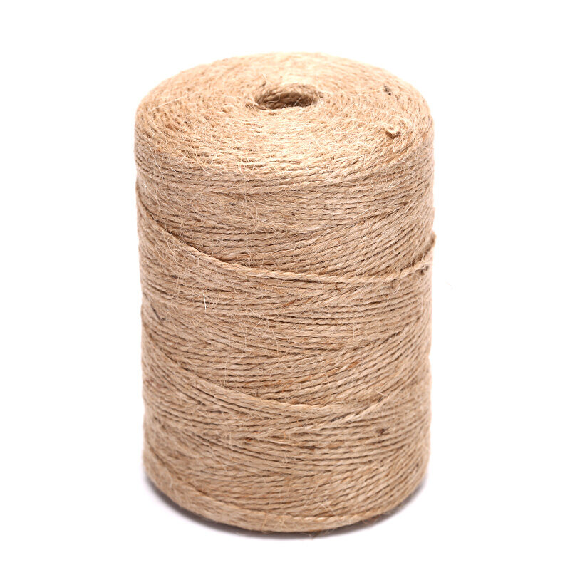 50M Natural Hemp Linen Cord Twisted Burlap Jute Twine Rope String Craft Decor
