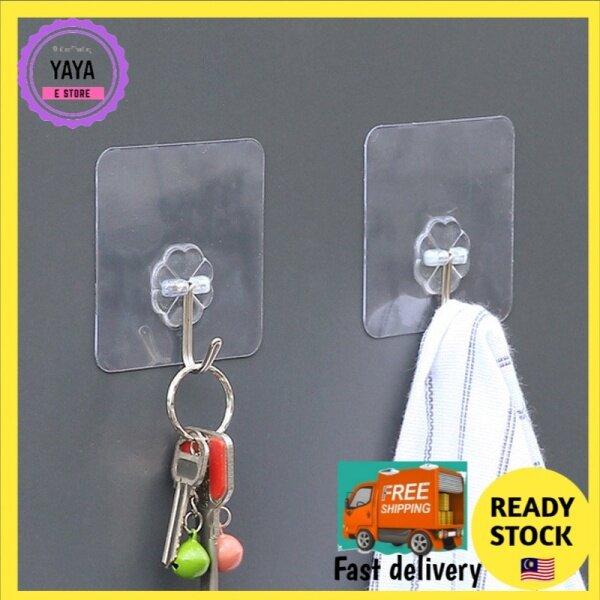 Transparent Magic Hook Kitchen Organiser Hanger Super Strong Nail Free Adhesive Wall Sticker