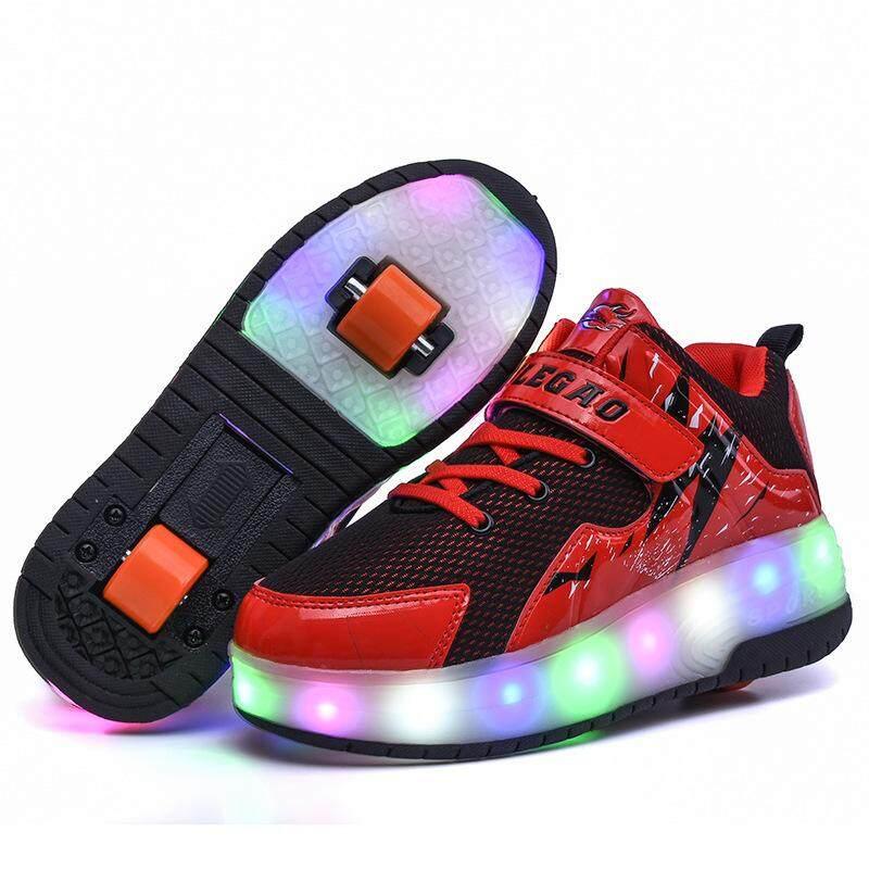 Giá bán (Giao Hàng Nhanh, Chất Lượng Tốt) Giày Cao Gót Mới, Giày Trượt Ván Siêu Nhẹ Hai Bánh, Giày Nổ Trẻ Em Có Bánh Xe