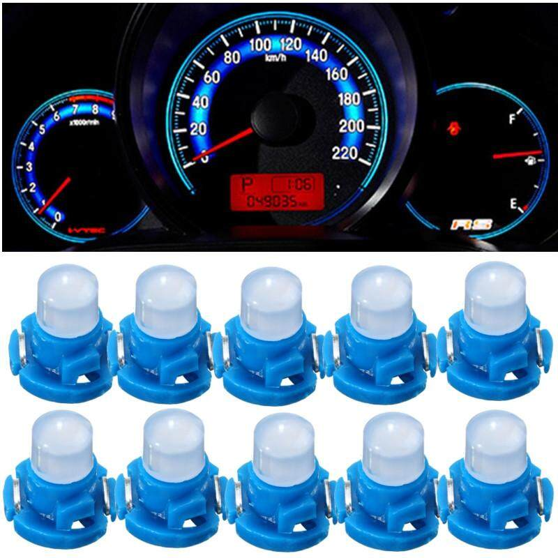 10PCS White T4.2 Neo Wedge 1 SMD LED Cluster Instrument Dash Climate Light Bulb