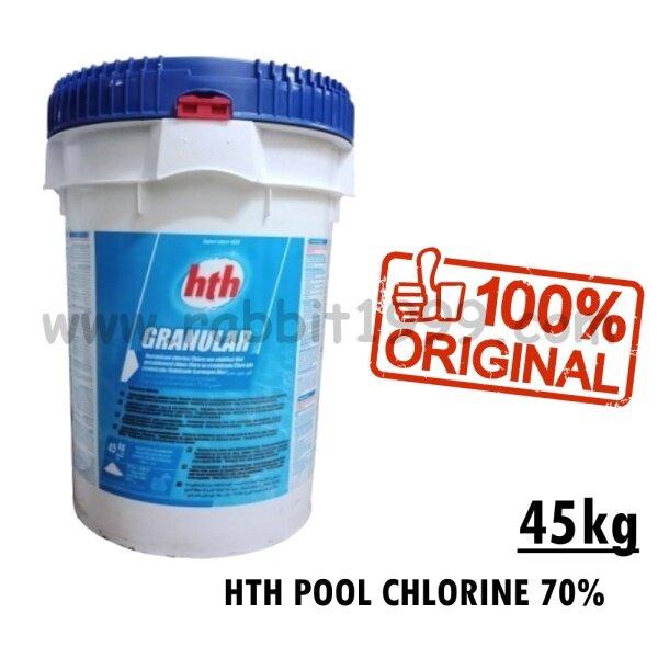 HTH POOL CHLORINE 70% - granular - 45kg - HTH 70% / HTH 70 / HTH 45kg / HTH chlorine / HTH pool chlorine / klorin HTH