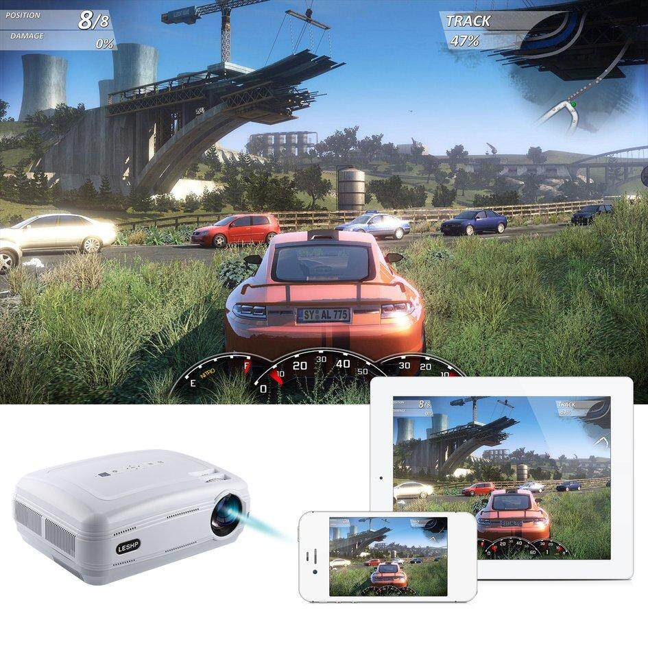 Cozy LESHP 720P LED Projector Protable Video Projector Multimedia Home Cinema
