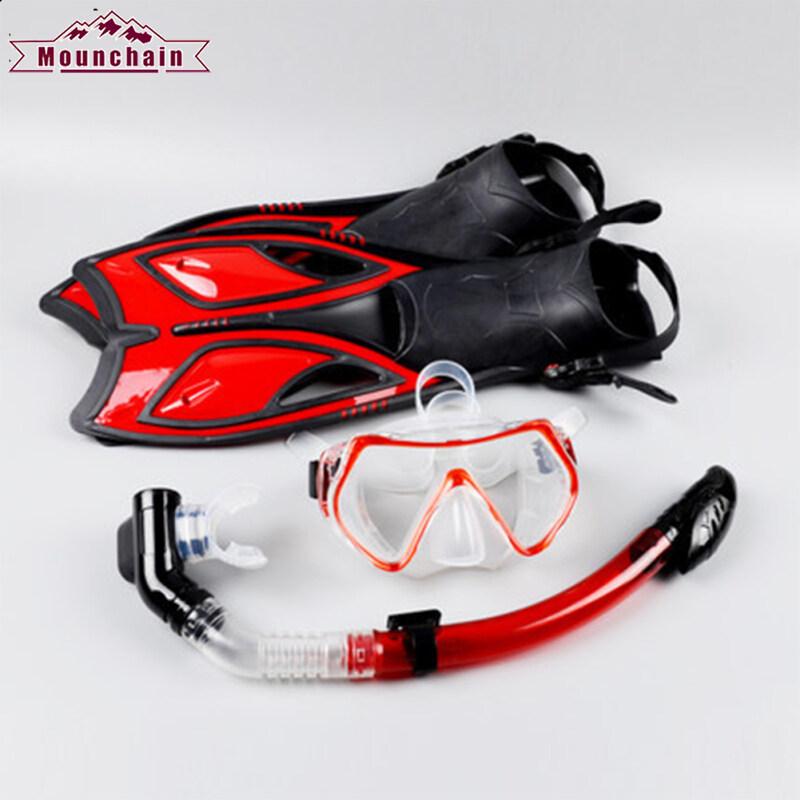 Bộ phụ kiện lặn mounchain, chân nhái Silicone tinh tế, Kính bơi cận thị
