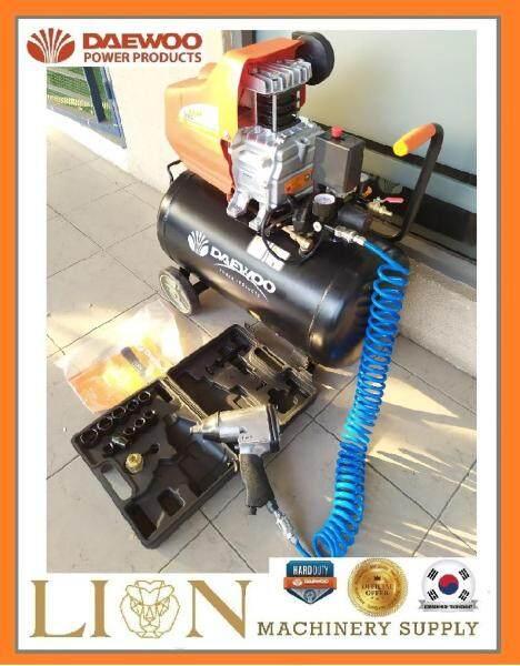 (DAEWOO COMBO)Daewoo DAC50D Compressor 2.5hp 50L 8 bar C/W Air Impact Wrench Set