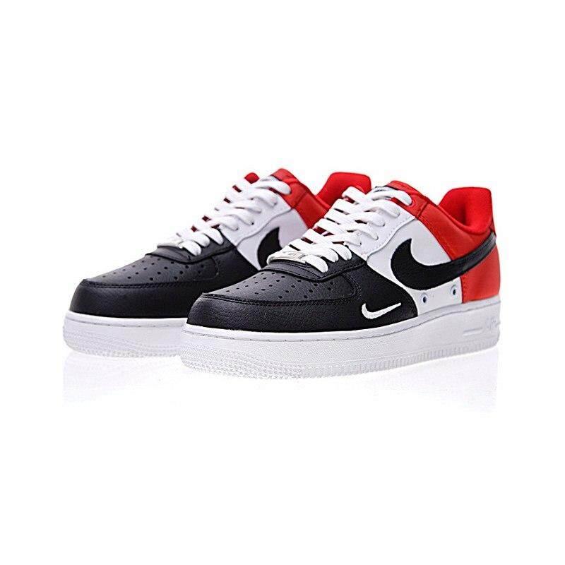 Asli Nike Asli AIR FORCE 1 Rendah Mini Swoosh Pria Sepatu Skateboard  Sneakers Atletik Alas Kaki 213dd7b047