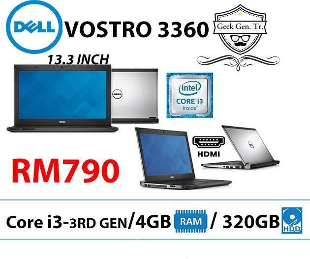 DELL VOSTRO 3360 CORE i3-3RD GEN 4GB RAM 320GB HDD 13.3 INCH Malaysia