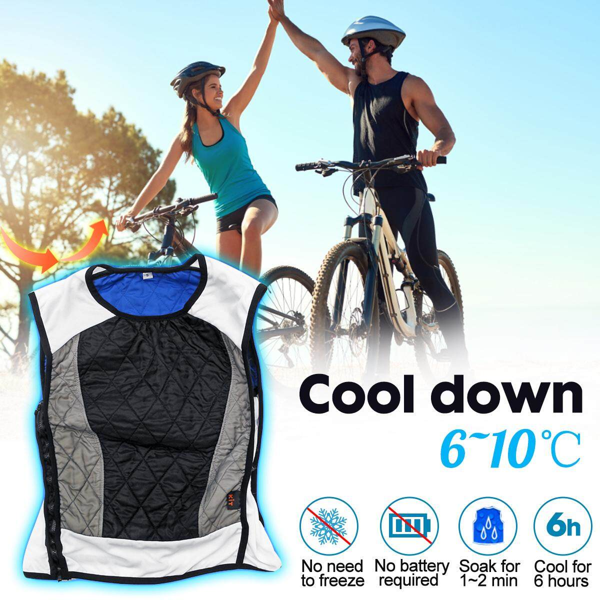 S/M/L/XL Outdoor Unisex Cooling Vest For Summer Rider Cool Down Riding Apparel
