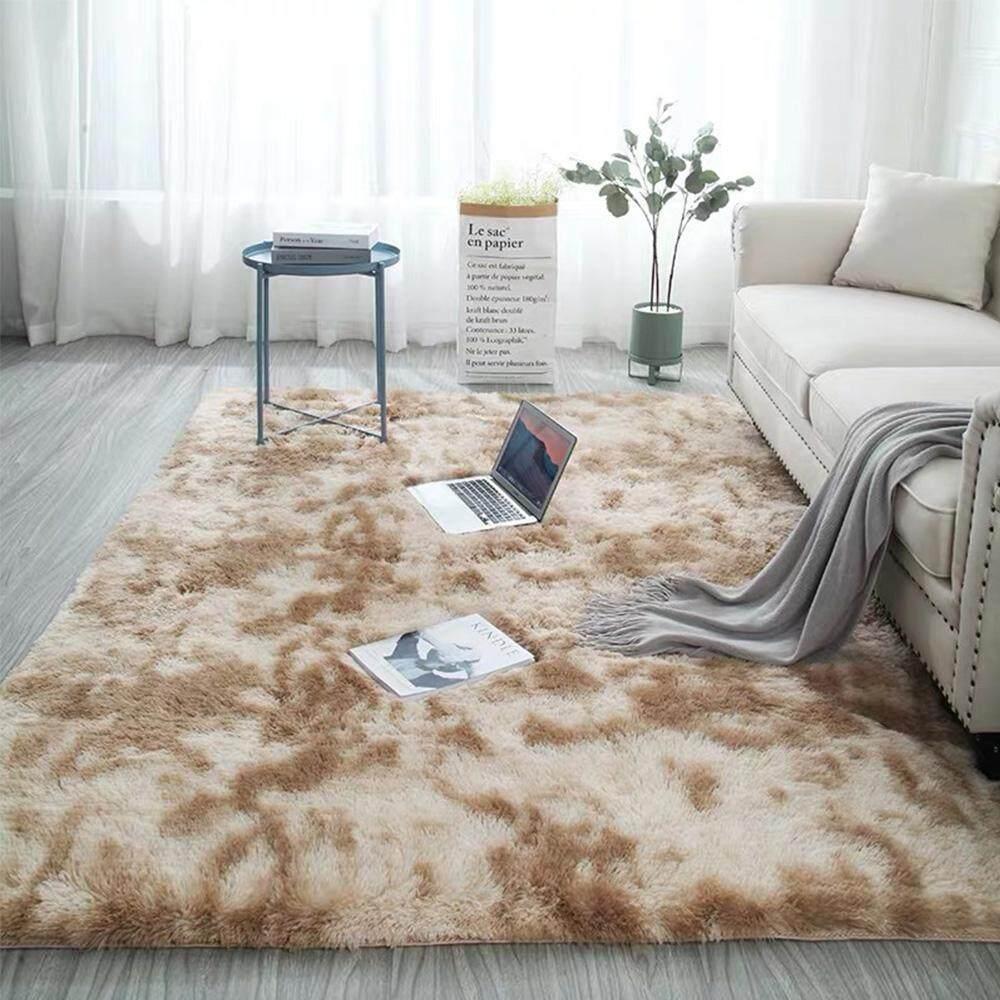 Nicetoempty 5 Ukuran Besar Ultra Lembut Karpet Ruangan Modern Daerah Shaggy Karpet Lantai Anak Anak Karpet Bermain Square Untuk Ruang Tamu & Sofa