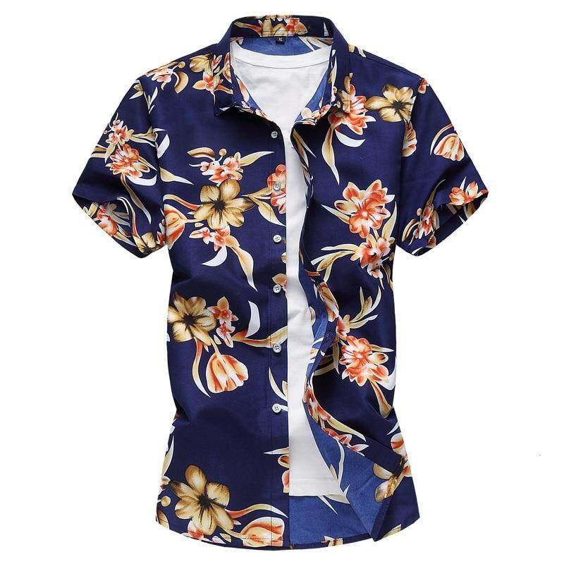 91462d0f2 COZY UP Summer New men's Short Sleeves Flower shirt large Men Shirts Boys  popular Fashion Casual