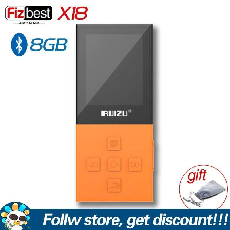 Original RUIZU X18 Bluetooth Sport MP3 Player with 8G High Quality Lossless Recorder FM Radio E-Book Music Player Support TF Card