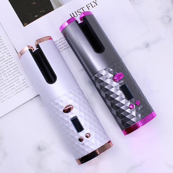 Buy 2020 newest hair curler electric curling iron Wireless charging automatic curler Wand Ceramic Heating Care Wave curl iron Singapore