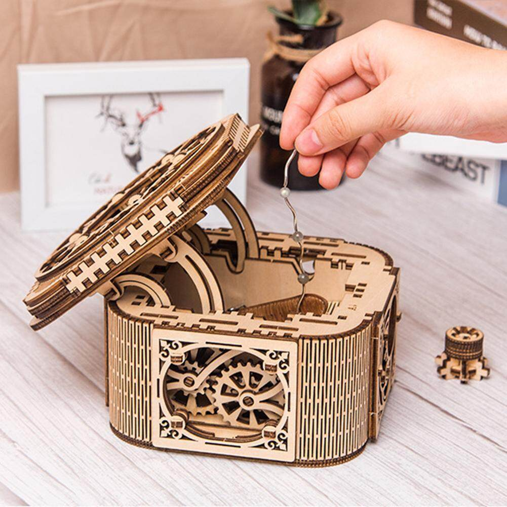Mechanical Models 3D Wooden Puzzle - Mechanical Treasure Box, DIY wooden jewelry box Christmas, birthday gift box