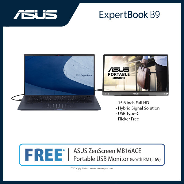 PRE-ORDER [ETA: 30th June 2020] Asus ExpertBook B9450FA (I5-10210U/8G/512GB SSD/14FHD/2CELL/3YOSS/Win10) Free mini hdmi to rj45 dongle + Sleeve (ETA: 2020-06-30) Malaysia