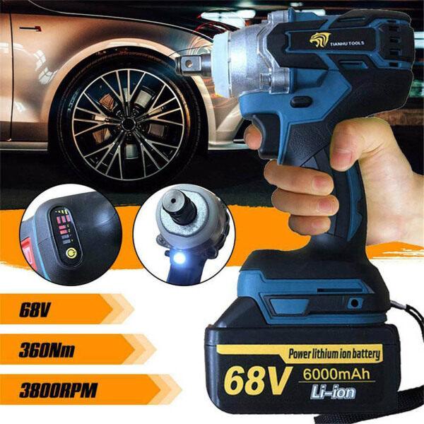 【Free Shipping】68V 360Nm Pro1/2 Driver Impact Wrench 6000mAh Motor Cordless Nut Battery