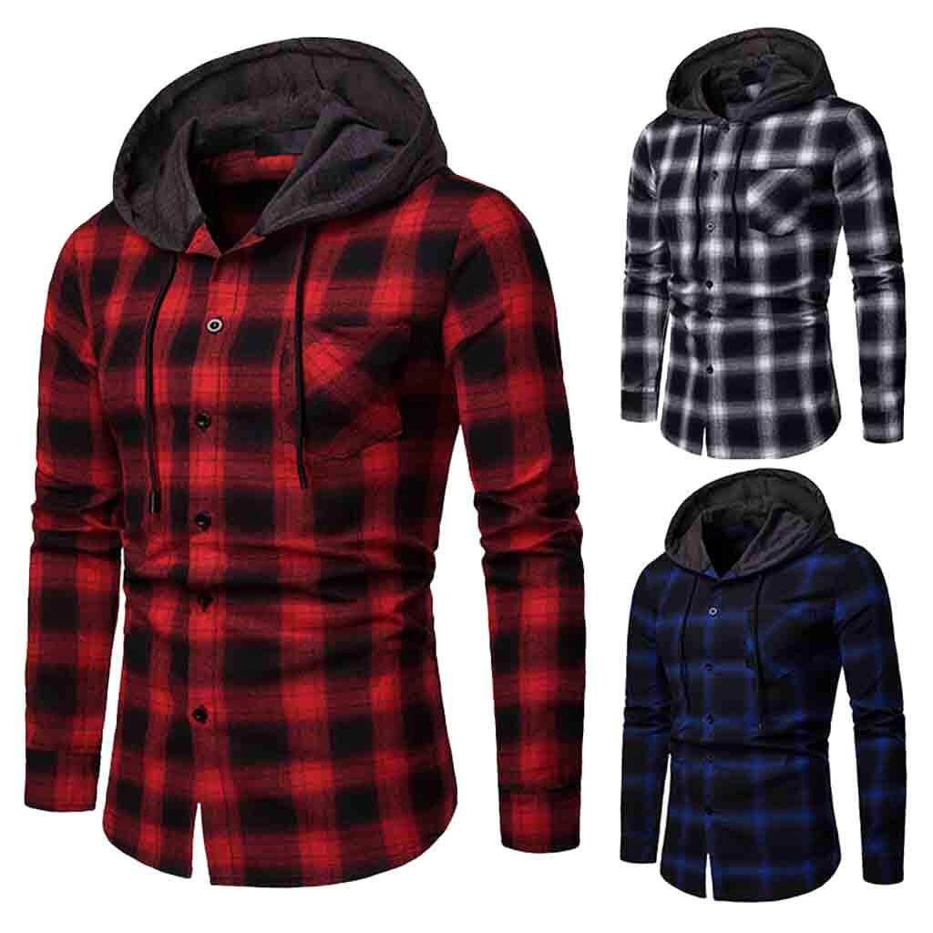 001f8b302751 Mobilone Men s Long Sleeve Lattice Painting Hoodie Large Size Casual Top  Blouse Shirts