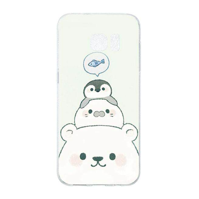 Fish and bear Soft Silicon Phone Back Case Cover For Samsung Galaxy S7 Edge