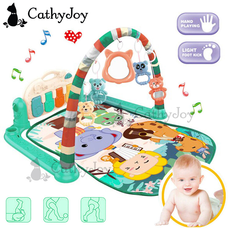 JOY Baby Musical Wonderland Gym Playmat Music Piano Colourful Play Mat with Rattle Toy Sleep Sit Exercise for Infant Newborn