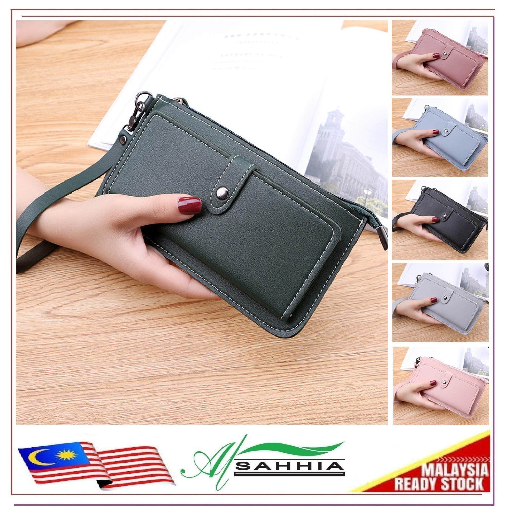 dbc5dfa1f9 15P2 Al Sahhia Korean Luxury Long Purse Lady Women's Multi-slot Zip Purse  Wallet