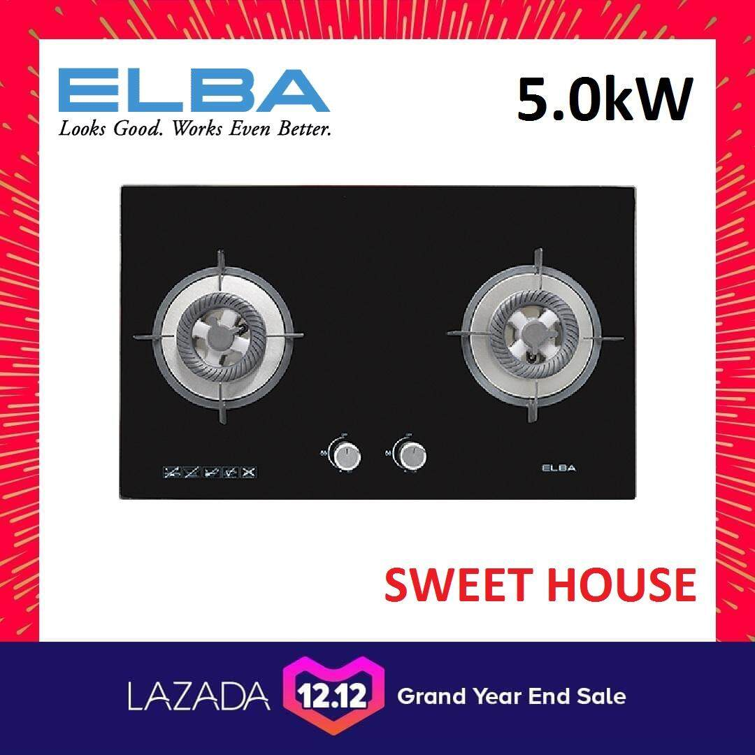 [LATEST MODEL] ELBA EGH-G8522G(BK) Built-In Glass Hob 5.0kW **EGH-F8582G(BK) ONLY 4.8kW (Old Model)**