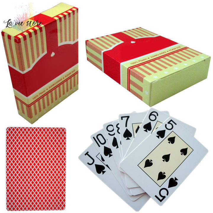 La Vis Pvc Plastic Playing Card Family Game Poker Cards Waterproof Polish Poker Board Games Lazada