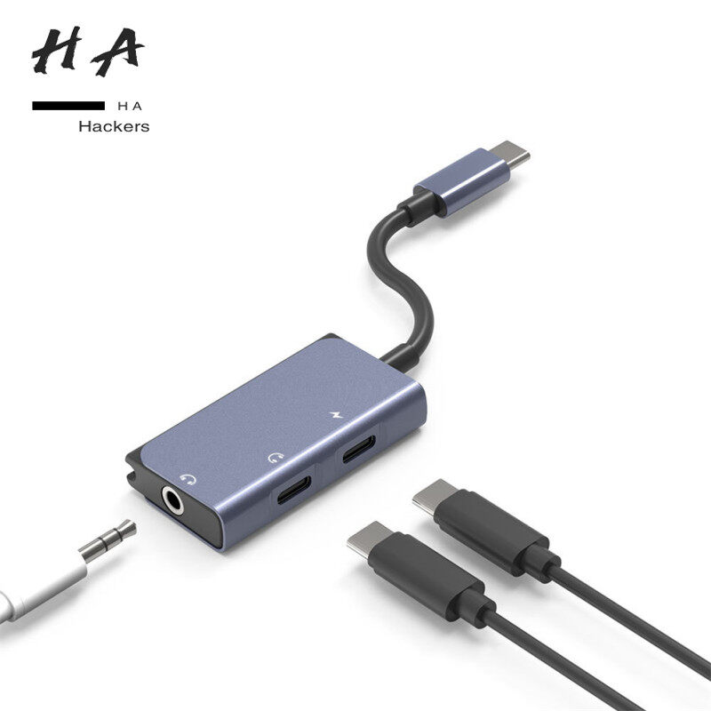 3 in 1 Docking Station USB C to 3.5mm Audio Adapter Converter for Tablet Laptop