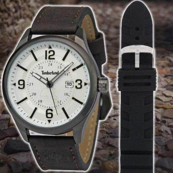Timberland@ Analog Quartz Movement Leather Strap Collection V with FREE Rubber Strap