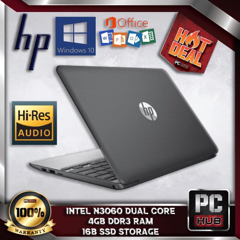 HP 12 ULTRABOOK WINDOW 10 - INTEL CELERON BRASWELL N3050 / 4GB DDR3 RAM / 16GB SSD STORAGE / WEBCAM / HDMI / USB 3.0 / CHROME OS / 11.6 INCH LED / LAPTOP - PC HUB Malaysia