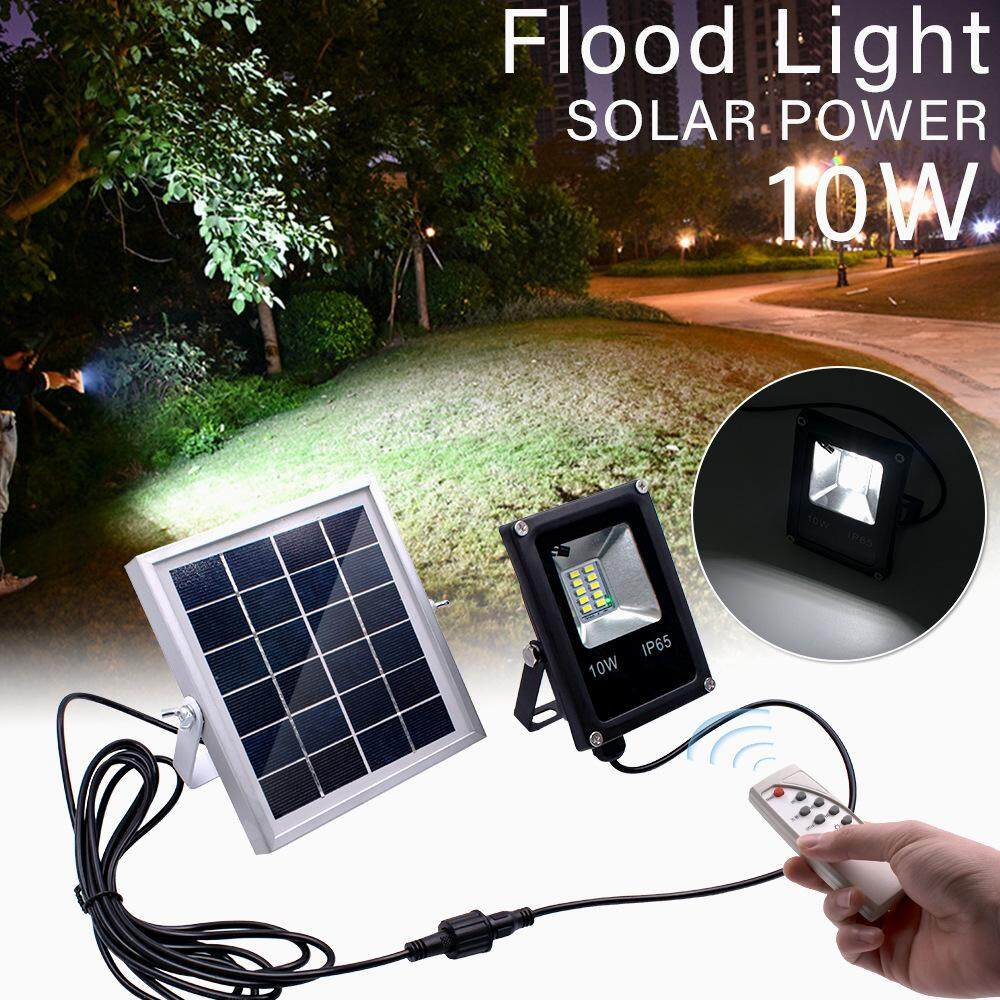 10W Waterproof Flood Light with Solar Panel for Outdoor Use Color Temperature:White light