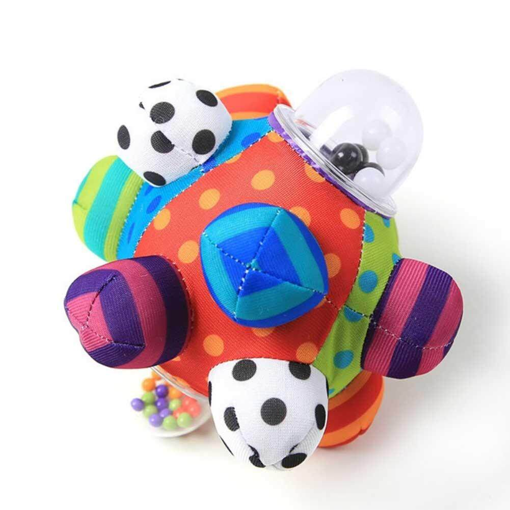 Baby Hand Rattle Bell With Soft Cloth Tactile Sensory Stereo Rattle Cloth Ball Toy For 0-1 Years Old Baby To Train Baby Grasping Ability By Nilin Saling.