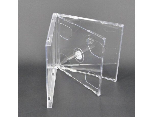 CD/VCD/DVD Double Disc Jewel Case Casing (Transparent)- 2 Disc [READY STOCK]