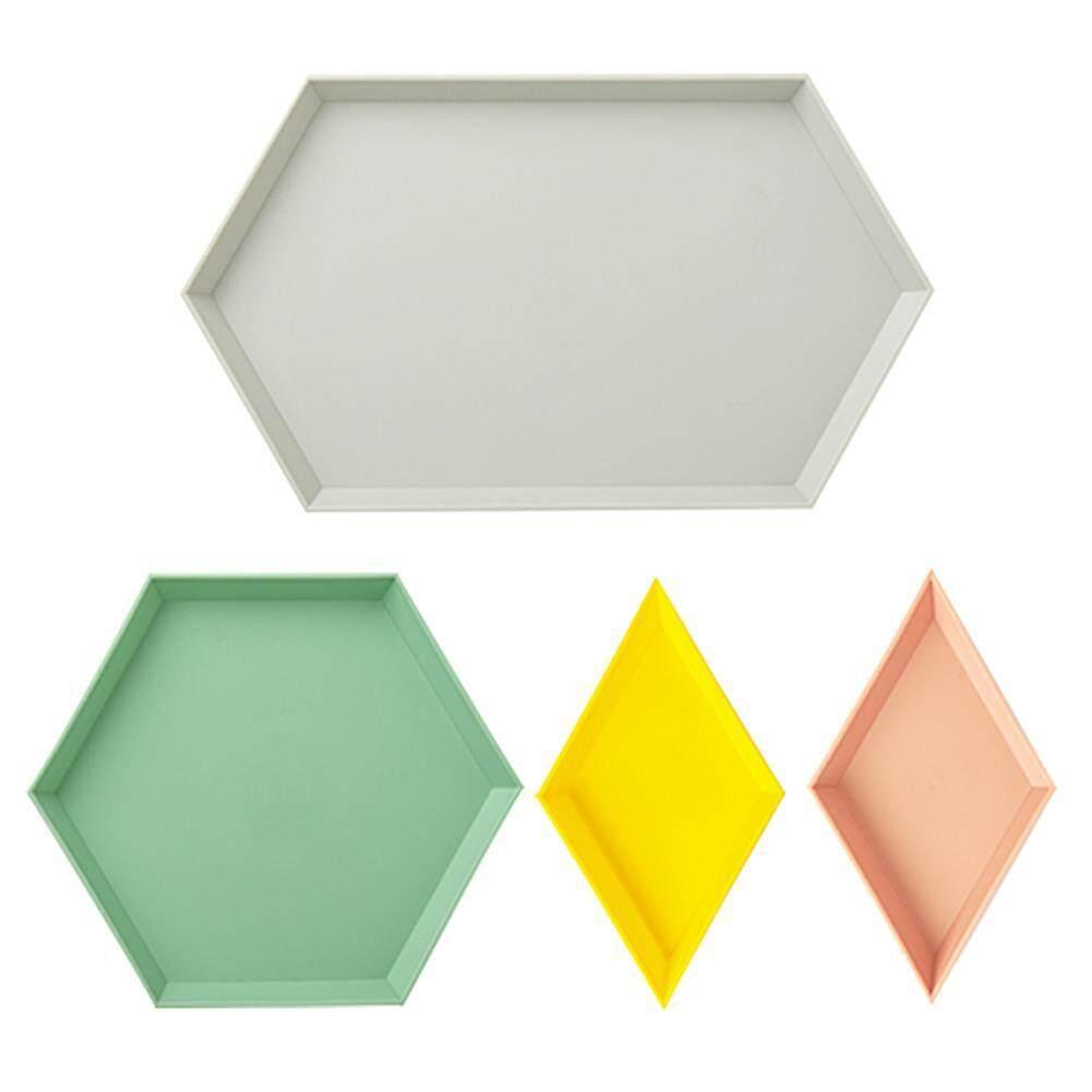 1 Set Nordic Style Polygon Desktop Combination Storage Tray Snacks Dish By Questionno.