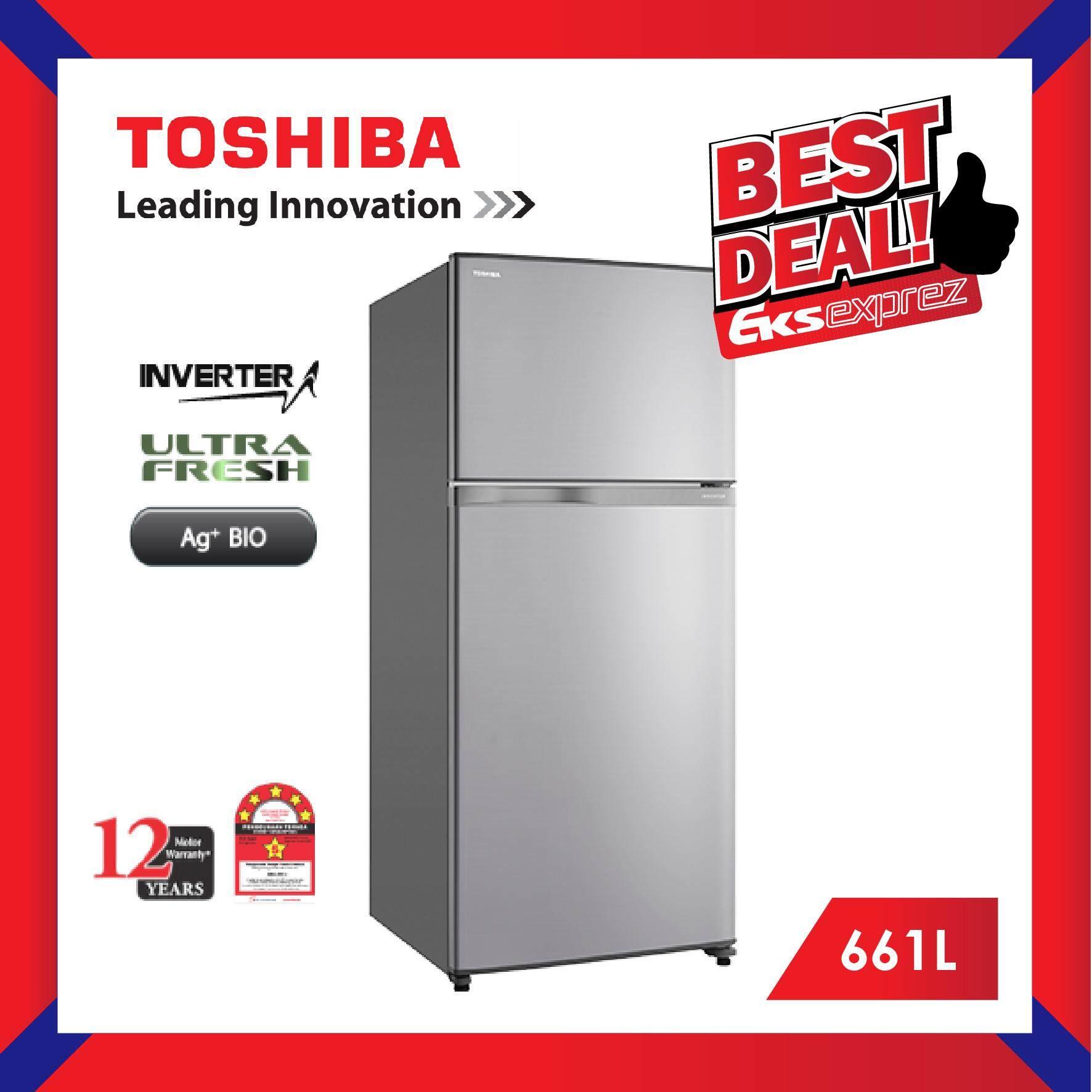 Toshiba GR-A66M (S) 661L 2-Doors Inverter Fridge / Refrigerator