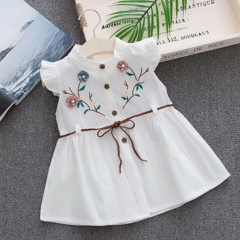 Summer Baby Girl Cotton Embroidered Vest Princess Dress By Ropalia Store.