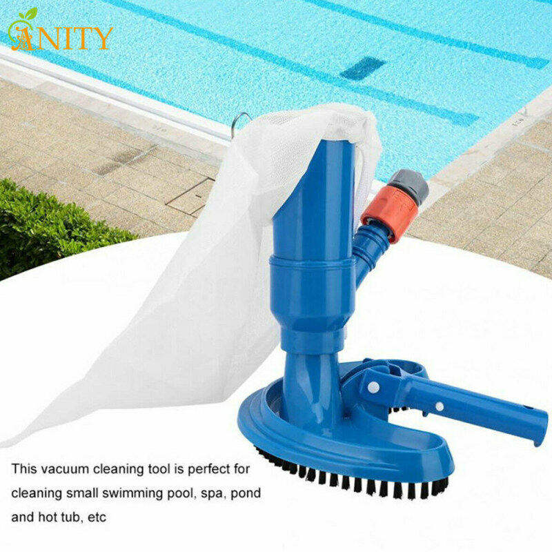 ANITY Swimming Pool Vacuum Brush Cleaner Portable Spa Pond Fountain Cleaning Tool