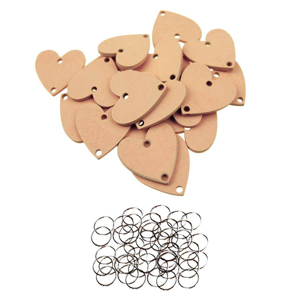 Perfeclan 50pcs Wooden Circle Heart Disc Diy Craft Board Tags Home Party Decor By Perfeclan.