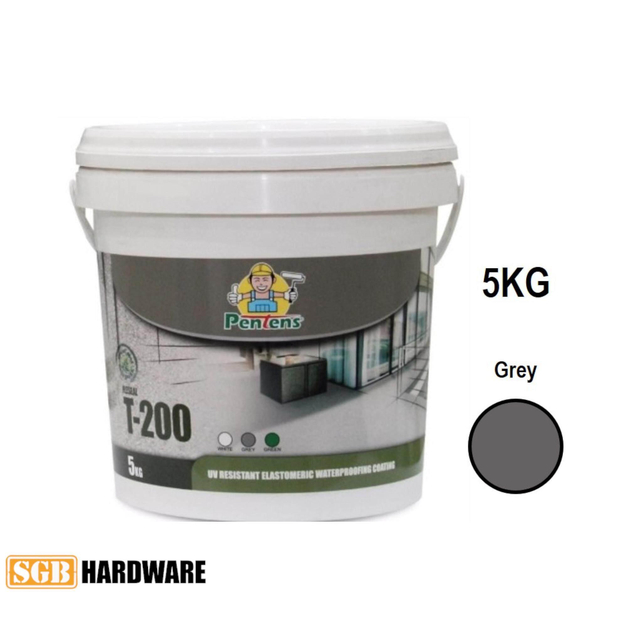 5KG PENTENS T-200 UV Resistant Elastomeric Waterproofing Coating T200 (White / Grey)