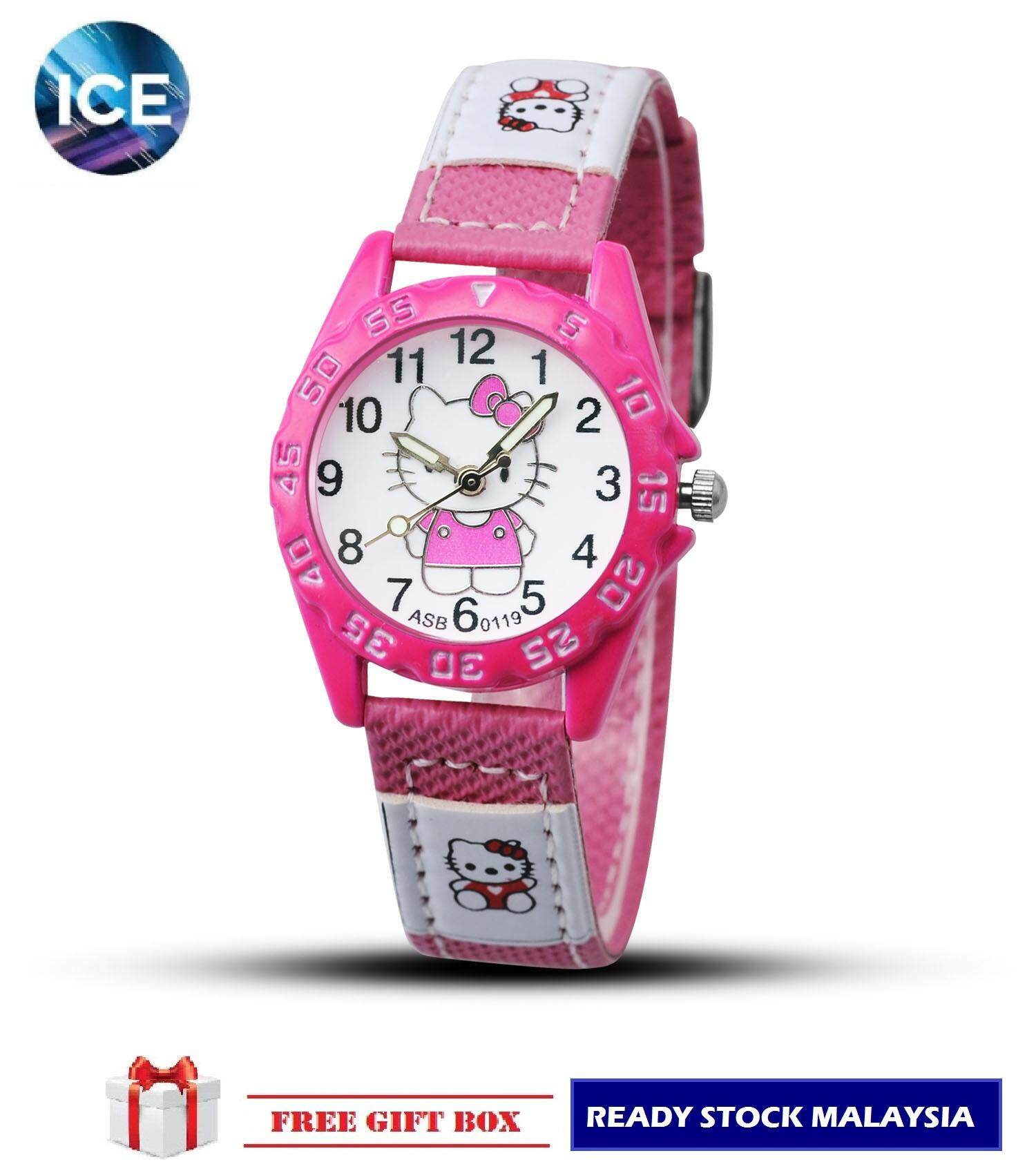 [BDAY SALE] ICE Kids/Childrens Sport and Casual Hello Kitty Analog Watches + Watch Box Best Gift Jam Tangan Malaysia