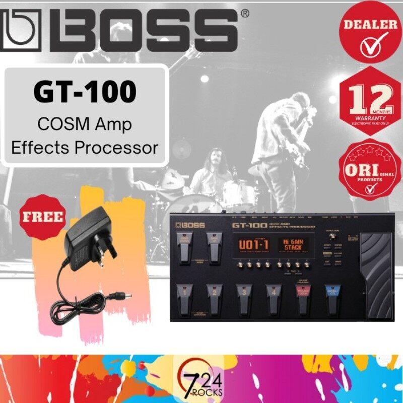 724 ROCKS Boss GT-100 COSM Amp Guitar Multi Effects Processor Pedal ( GT100 ) Malaysia