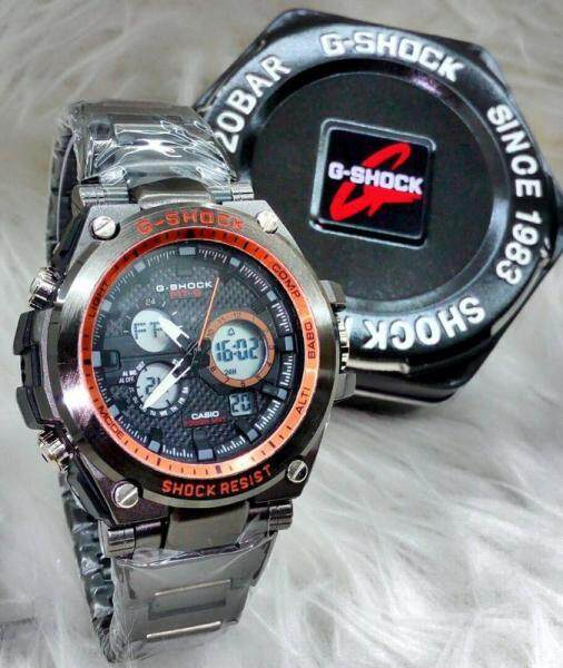 New Sport Casio_G-SHOCK_MTG HAMMER TONE Shock Resistant Fully Stainless Steel Dual Time Dual Time Display Fashion Casual Watch For Men Ready Stock 100% Mineral Glass New Design Malaysia