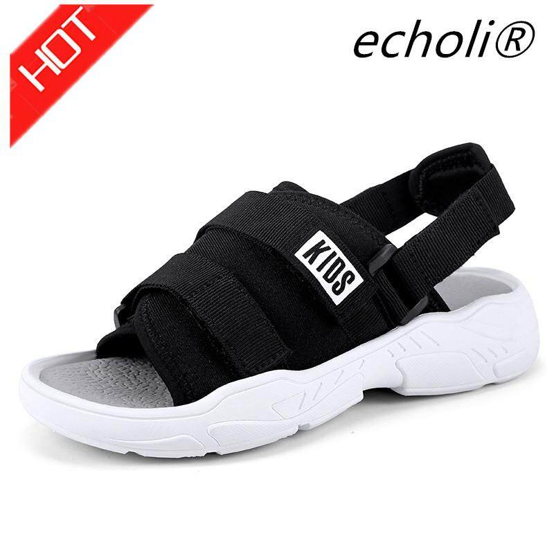 2019 ฤดูร้อนเด็กรองเท้าแตะสำหรับผู้หญิงชาย Toe รองเท้ากันลื่นกีฬารองเท้าฤดูร้อน Size26-37 By Echoli.