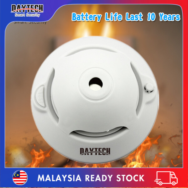 [Malaysia Ready Stock]Daytech Smoke Detector 10 Years Battery Powered Standalone Photoelectric Smoke Sensor Fire Alarm Security System For Home/Factory/Restaurant/Hotel 1PC SM06TA