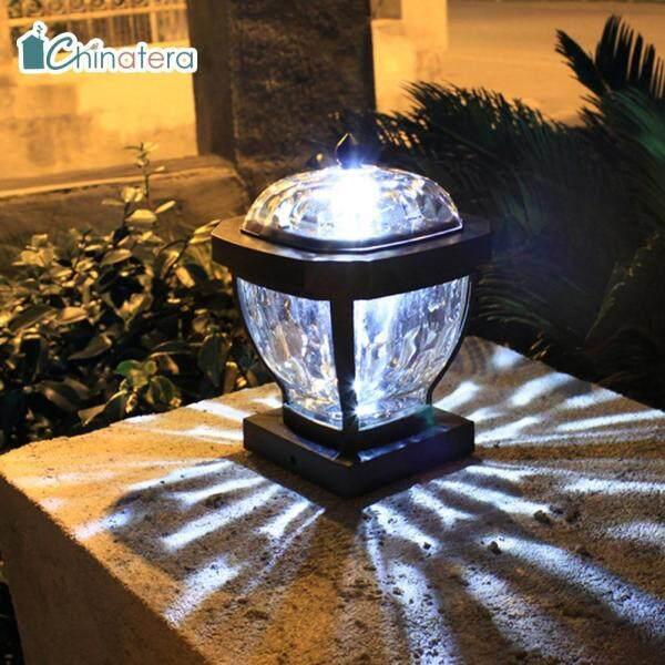 Đèn LED Trụ Cột Năng Lượng Mặt Trời Chinatera, Đèn Sân Vườn, Ngoài Trời, Màu Trắng Ấm, Chống Nước, Phong Cách Retro, Kỳ Thị Cao Quý