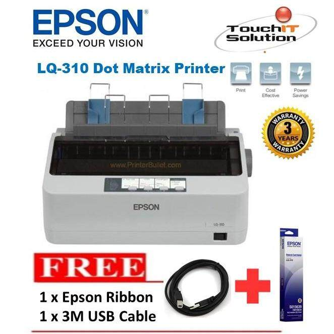Epson Lq-310/lq310 Dot Matrix Printer With 24-Pin Narrow Carriage Impact By Touch It Solution.