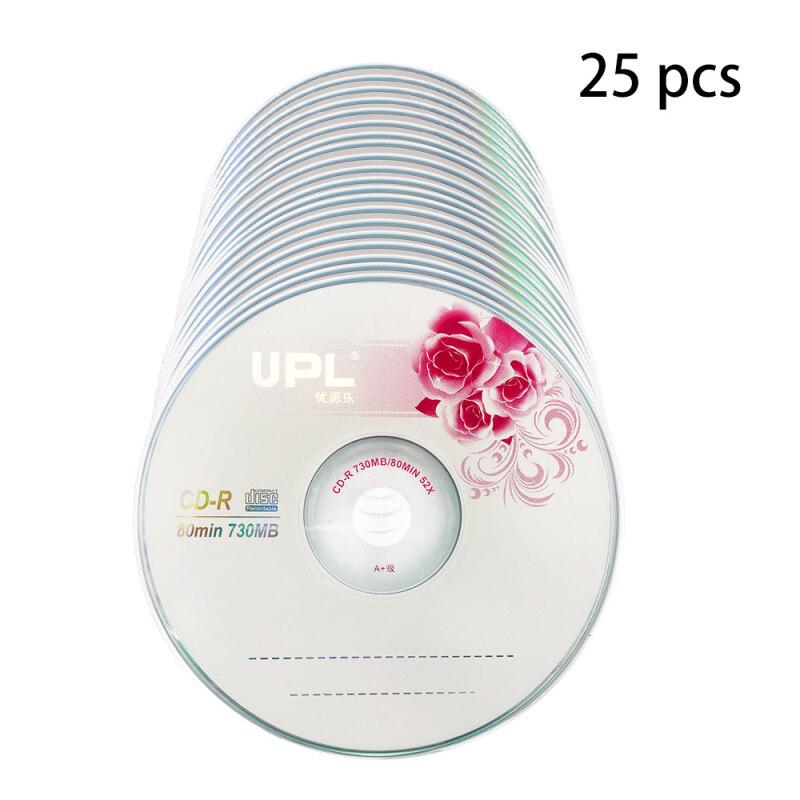 25PCS CD-R 700MB/80min Blank Disc Grade A 52X Multispeed Music CD Disk