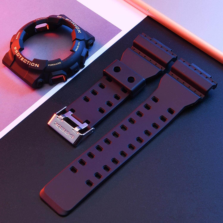 Nơi bán Thời trang Có Thể Điều Chỉnh cao su không thấm nước Bộ phận thay thế dây đeo đồng hồ Dây Đeo Tương Thích với Đồng Hồ GA-110 GA100 GD-120 Đồng Hồ